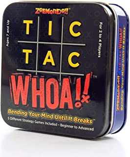 Zobmondo!! Tic Tac Whoa!! 5-in-1 Strategy Card Game | Fun for Dedicated Tactical Gamers, Families, and Kids | Makes a Great Gift