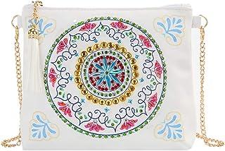 Coxeer Crossbody Bag DIY Diamond Painting Leather Purse Clutch Shoulder Bag for Women