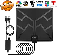 TV Antenna 120 Miles HDTV Antenna - 2019 Upgraded Digital Indoor HD Antenna High Definition TV Antenna with Amplifier Signal Booster Coaxial Cable 4K 1080P VHF UHF Free Local Channels