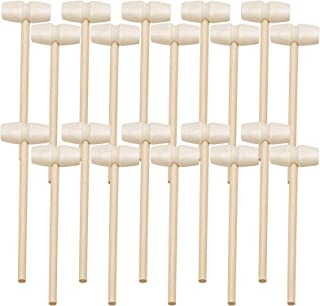 Andmax 30 Pcs Mini Wooden Hammer Mallet Pounding Toy for Breakable Easter Egg Tools, Cute Beating Gavel Toys for Kids, Cra...
