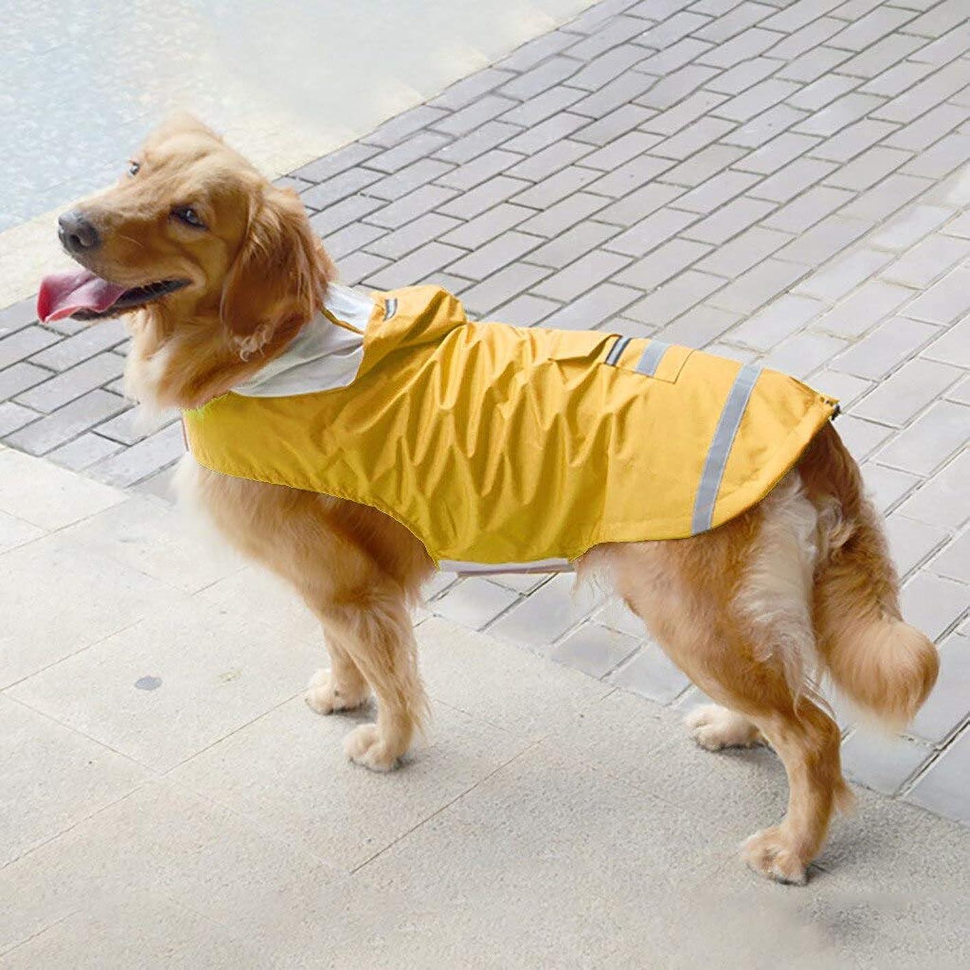 ハプニング火星血まみれのXINGGUANGISHOWTIENDA 2019 ゴールデンレトリバー大型犬フード付き脚防水と防雨ペットレインコートホット販売レインコート 上下