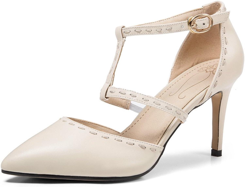 Nine Seven Women's Genuine Leather Round Toe Low Heel Mid Calf Boots - Handmade Comfort Lace Up Wedge Heel Short Boots
