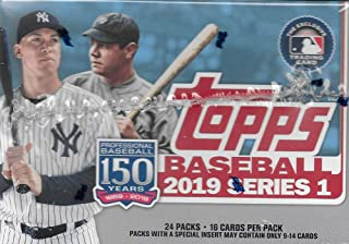 Topps 2019 Baseball Series 1 Trading Cards Display Box (Retail Edition 24 Packs)