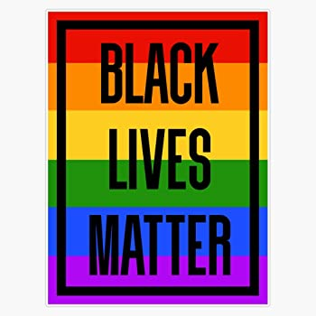 Multicolor Black Lives Matter Peace Flower Sticker Sticker Vinyl Bumper Sticker Decal Waterproof 5