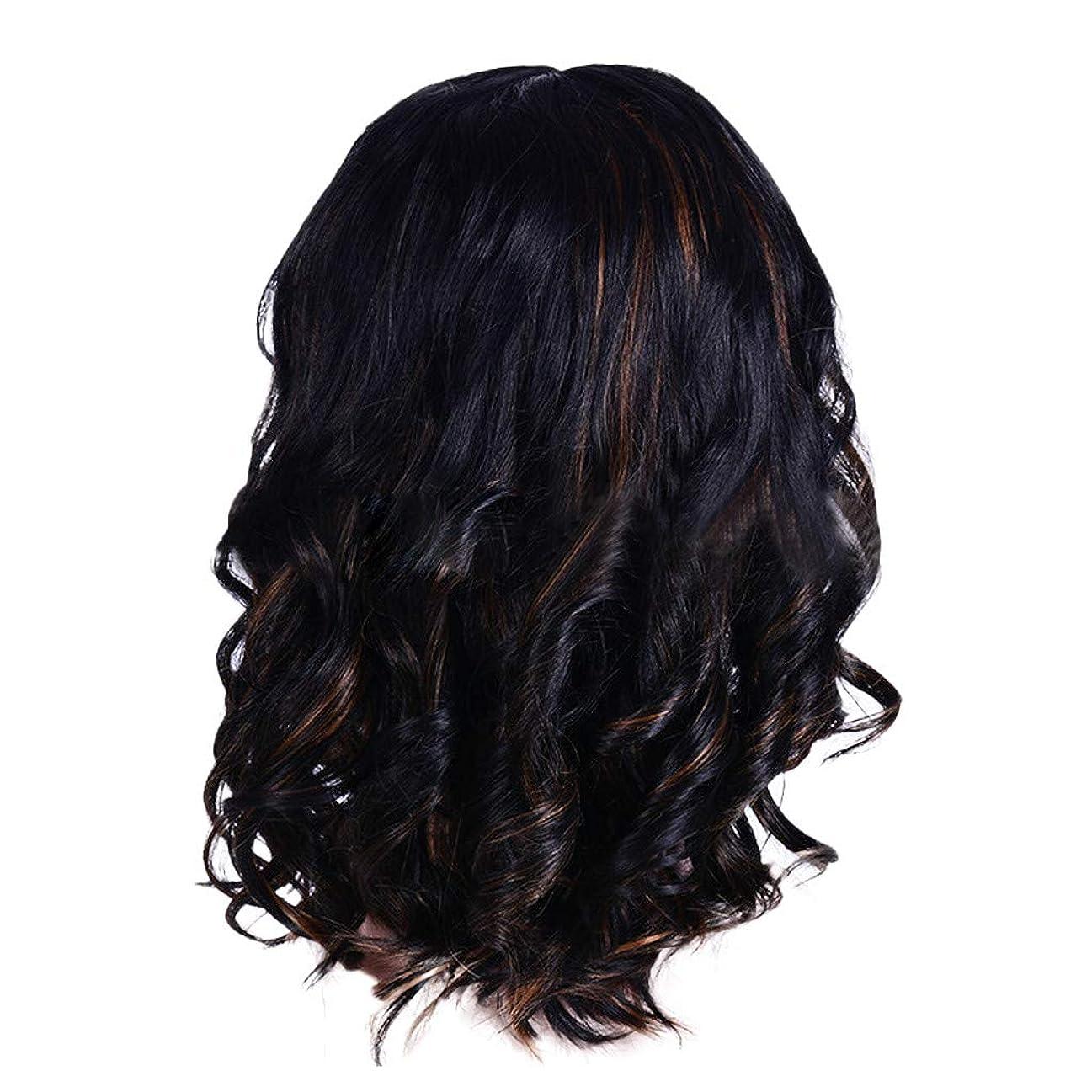 一貫性のない作成者鰐ウィッグの女性の短い巻き毛の黒ボブエレガントなファッションウィッグ