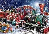 FBDBGRF Pintar por Número Santa Claus Y Tren para Adultos Y Niños DIY Kit De Regalo De Pintura Al Óleo con Juego De Pintura Digital para Decoración del Hogar Lienzos para Pintar