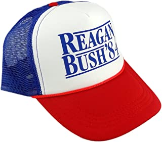 14ff6a828fe01 Funny Guy Mugs Reagan Bush  84 Trucker Hat - Adult - Unisex - Adjustable
