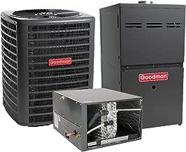Goodman 3 Ton 16 SEER Air Conditioner GSX160361, Coil CHPF4860D6, 80,000 BTU 80% AFUE Horizontal Gas Furnace GME80805CX