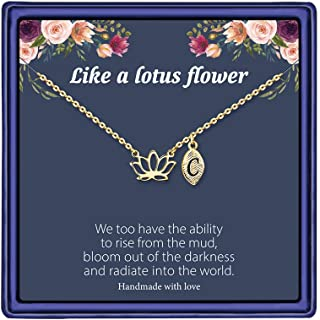 Best lotus necklace rose gold Reviews