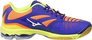 MIZUNO V1GA170073 Wave Lightning Z3 Men's Volleyball Shoes, Surf The Web/White/Orange Clown Fish