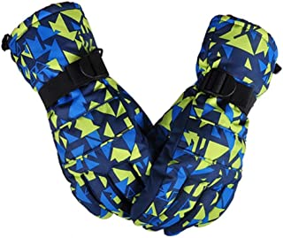 LoveKids Thinsulate and Waterproof Quilted Ski Gloves for Kids Teens Women Men