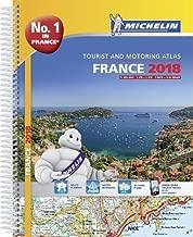 France 2018 - Tourist & Motoring atlas A4-Spiral 2018 (Michelin Road Atlases)