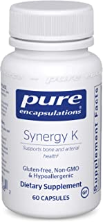 Pure Encapsulations - Synergy K - Hypoallergenic Formula with Vitamin K1, K2, and D3 for Bone and Arterial Health - 60 Cap...