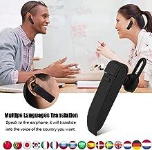 Balscw-F Traducción de Voz en Tiempo Real en su oído, Dispositivo de traductor de lenguaje Inteligente inalámbrico Bluetooth Auricular portátil 16 Idiomas para el Aprendizaje de Viajes de Negocios