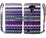 Stylish Tribal Design Wallet Leather Case for LG G Vista VS880 with Kickstand