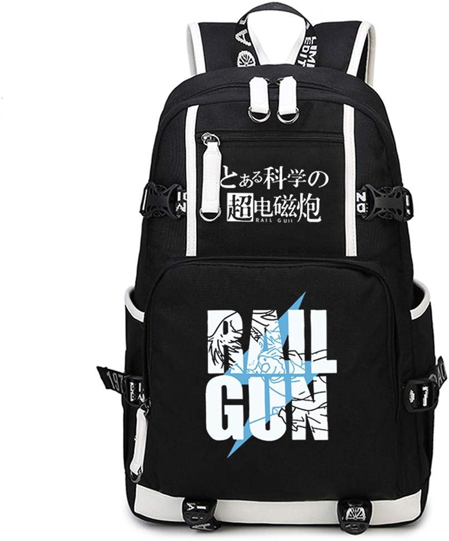 Gumstyle Toaru Kagaku No Railgun Anime School Bag Backpack Shoulder Laptop Bags for Boys Girls Students Black 2