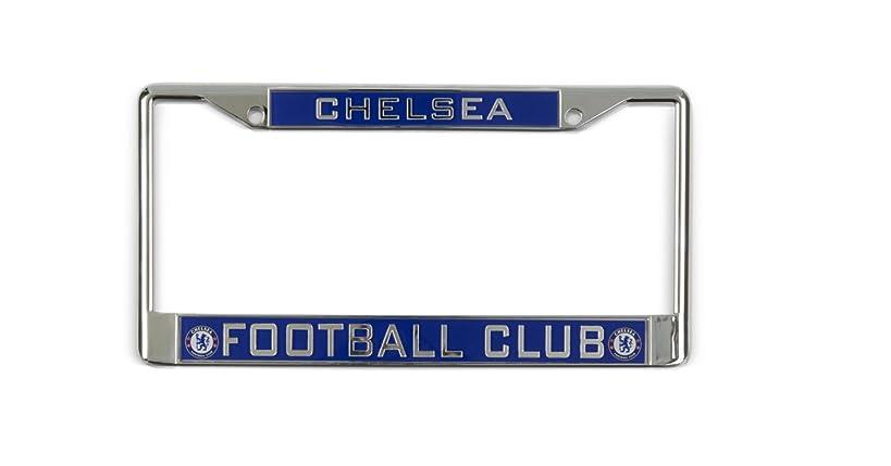 Chelsea FC Inlaid Car License Plate Frame Blues Fan