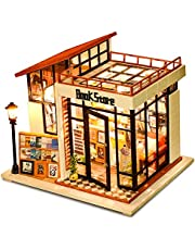 Miniature Dollhouse with Furniture - Book Store