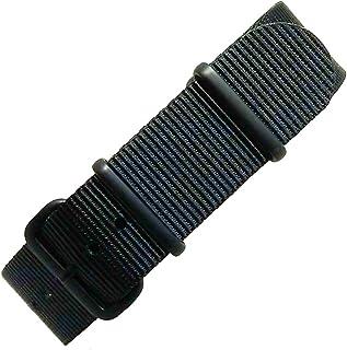[time+] 20mm NATO G10 バリスティックナイロンストラップ 腕時計ベルト ミリタリーバンド ブラック/Matte Black