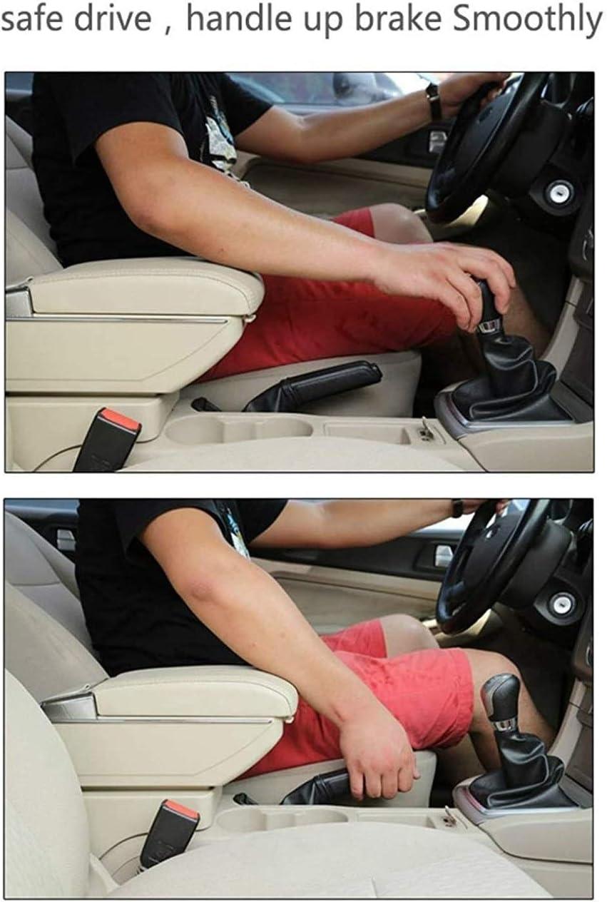 XMSM Car Interior Central Control Armrest Box Heighten Car Armrest Center Console Arm Rest Built-in LED For Volkswagen For VW Polo 9N 2010 2011 2012 2013 2014 2015 2016 2017 Color : BLack