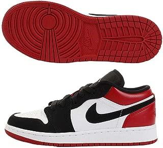 Air Jordan 1 Low (Gs) Boys Grade SCHL Sneakers 553560-116, White/Black-Gym Red, Size US 5.5Y