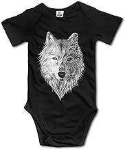 V5DGFJH.B Toddler Climbing Bodysuit Big Wolf Head Infant Climbing Short-Sleeve Onesie Jumpsuit