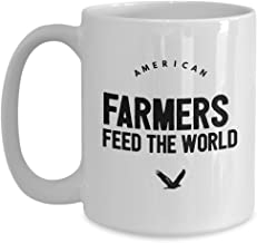 Gift for farm guys American Farmers Feed the World Mug, Perfect for Birthdays, Fathers Day
