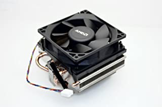 PartsCollection Genuine AMD AM3 / AM4 Socket Ryzen CPU Copper Pipes Heatsink with near silent Cooling Fan (Retention Bracket Mounting Type)