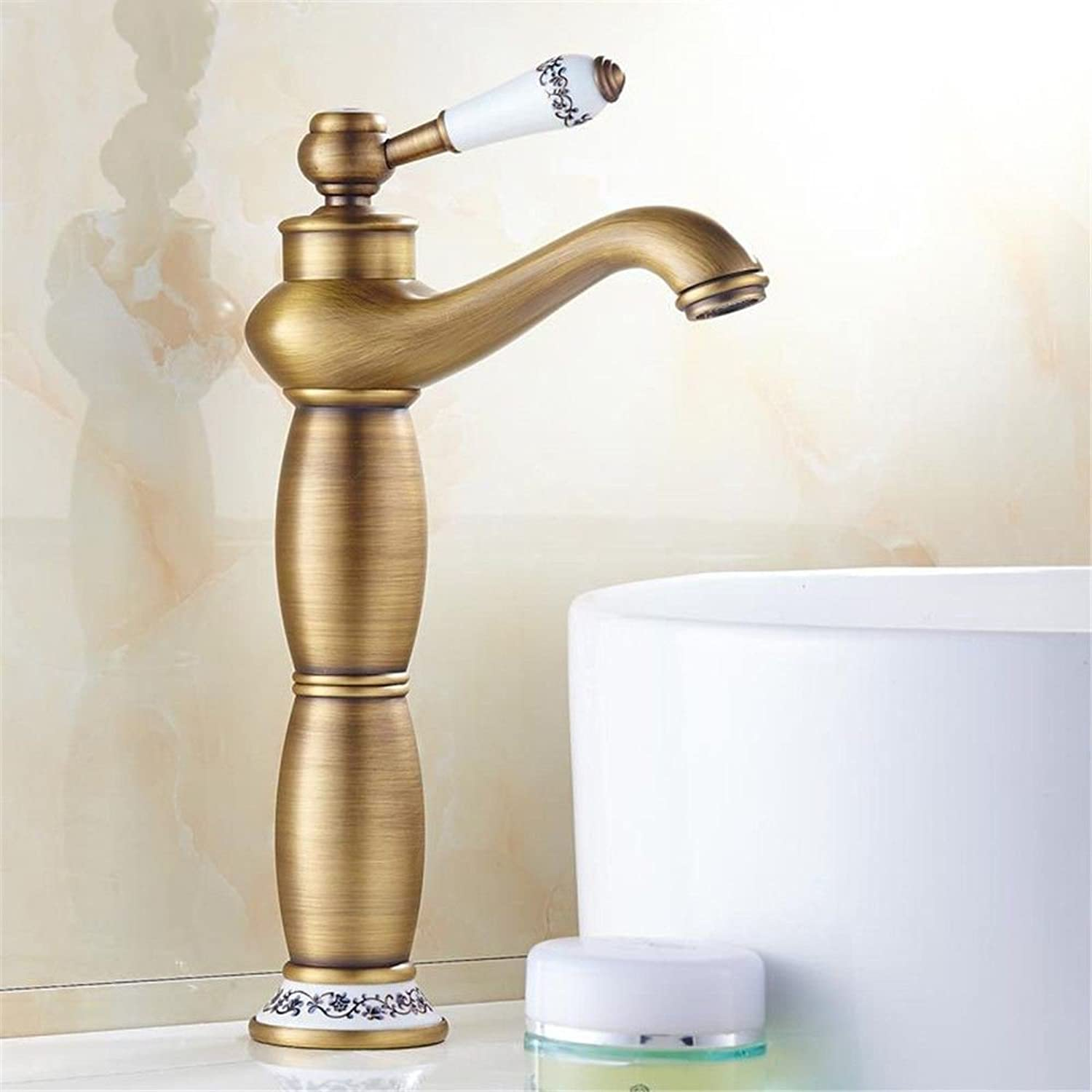 AQMMi Basin Taps Bathroom Sink Faucet Glass Waterfall Spout Hot and Cold Water Wash Basin Bathroom Sink Faucet Basin Mixer Tap Janitorial & Sanitation Supplies Commercial Bathroom Sink Taps
