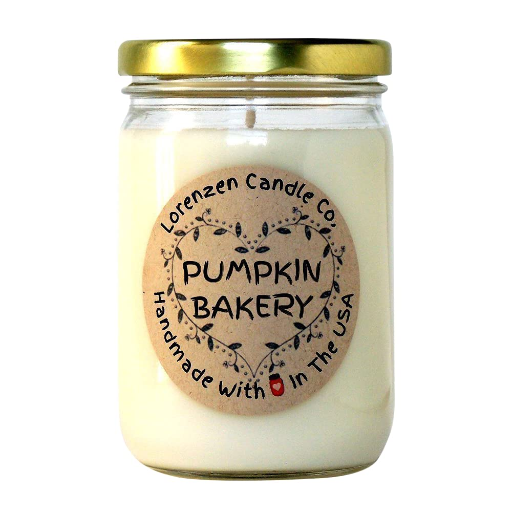 Pumpkin Bakery Soy Elegant Candle 12oz Superlatite Handmade the 100% USA in with