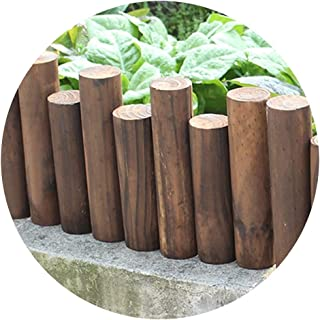 YYFANG Picket Fence Courtyard Balcony Garden Decoration Solid Wood Fence High Temperature Carbonization Corrosion Resistan...