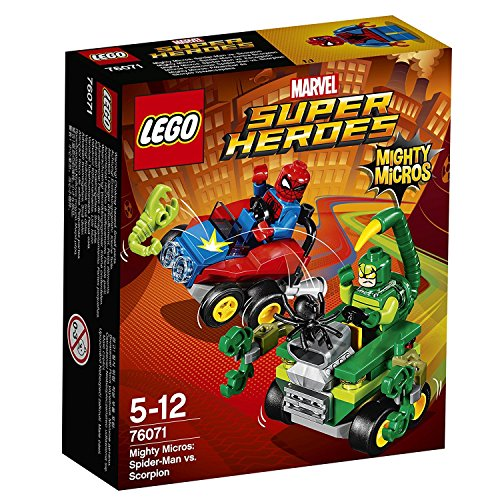 LEGO Marvel Super Heroes - Mighty Micros: Spider-Man vs. Escorpión, Juguete de Coches de Carreras de Superhéroes (76071)