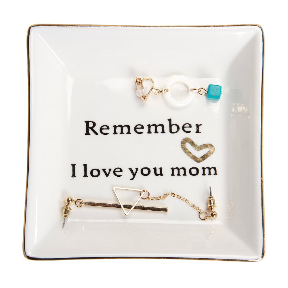 HOME SMILE Ceramic Ring Dish Decorative Trinket Plate -Remember I Love You Mom  sc 1 st  Amazon.com & Gifts for Moms Birthdays: Amazon.com
