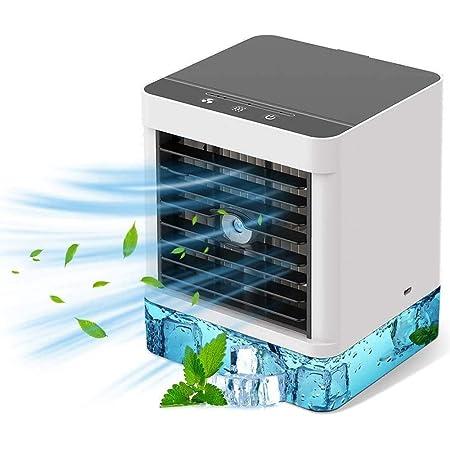 Climatiseur Portable,Ventilateur de Climatiseur Mobile 500 ml, Ventilateur de Portable3-en-1,humidificateur d'air, 3 Vitesses, utilisé dans Le Bureau, la Chambre à Coucher, Le Salon