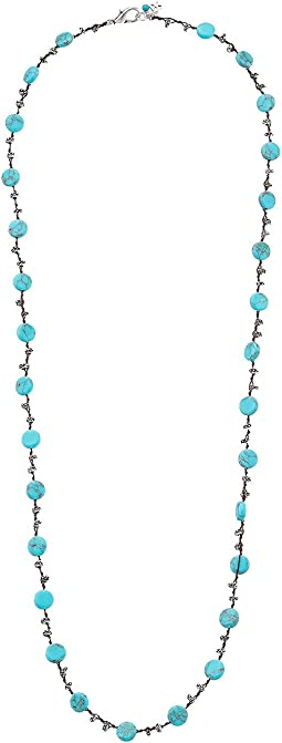 Lucky Brand Turquoise Hammered Coin Necklace