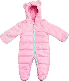 Baby Girls Snowsuit Poly Filled Pram with Fur Trim