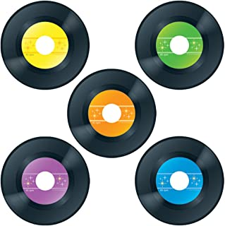 Carson Dellosa – Records Colorful Cut-Outs, Classroom Décor, 45 Pieces