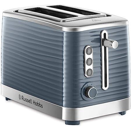 Russell Hobbs Toaster Grille Pain XL, Contrôle Brunissage, Décongéle, Réchauffe, Chauffe Viennoiserie - Gris 24373-56 Inspire (Exclusivité Amazon)
