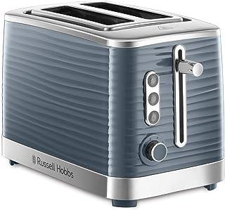 Russell Hobbs Toaster Grille Pain XL, Contrôle Brunissage, Décongéle, Réchauffe, Chauffe Viennoiserie - Gris 24373-56 Insp...