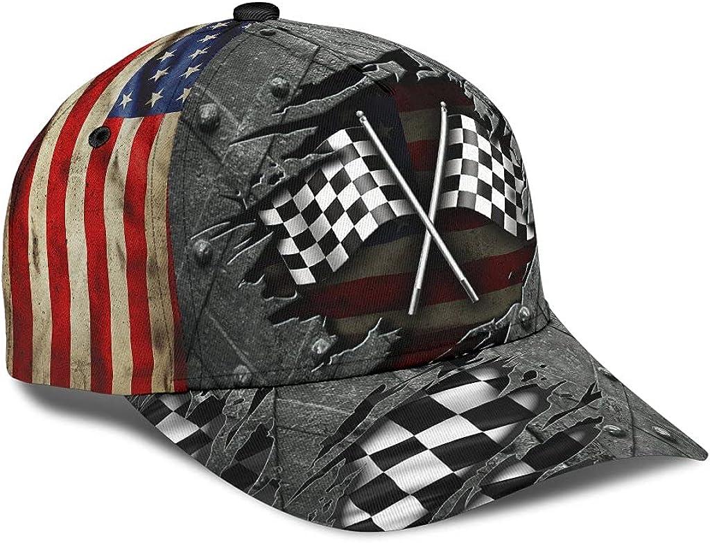 Personalized Name 3D Printed Unisex Cap Hat Racing Crack Pattern Classic Cap Text Name Customized Classic Cap Snapback Cap Baseball Cap for Men Women Sports Outdoor