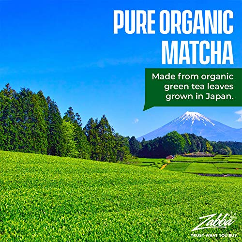 Kiss Me Organics Matcha Green Tea Powder - Organic Japanese Culinary Grade Matcha - (1 Ounce)
