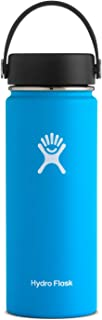 Hydro Flask Water Bottle - Stainless Steel & Vacuum Insulated - Wide Mouth with Leak Proof Flex Cap - 18 oz, Pacific
