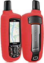 Wonderfulhz Case Compatible with Garmin GPSMAP 62 62s 62st 62sc 62stc 64 64s 64st 64sc - Silicone Protective Cover Skin - Outdoor Handheld GPS Navigator Accessories (Red)