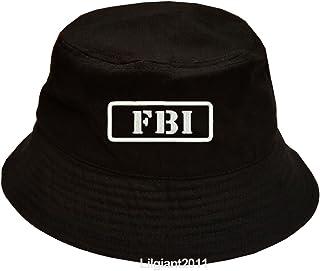 a04561fd Military FBI Federal Bureau of Investigation 100% Cotton Black Bucket Cap  Hat