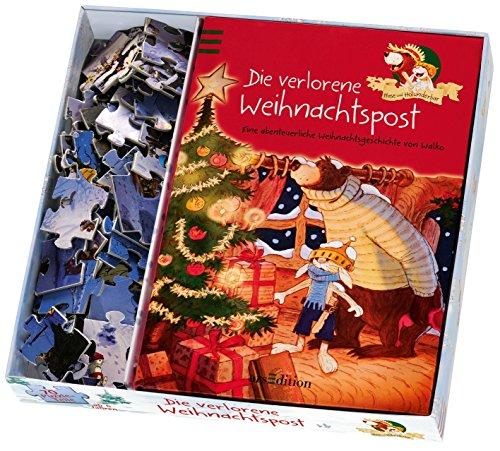 Hase und Holunderbär - Die verlorene Weihnachtspost: Buch + Puzzle