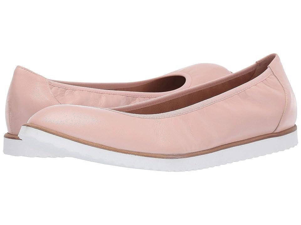 French Sole Doorway Flat (Pale Pink Nappa) Women