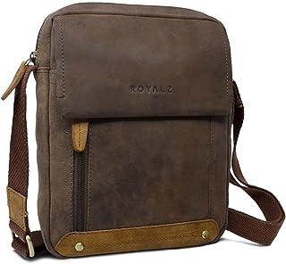 Royalz Leather Shoulder Bag for Men Small Compact Design Leather Messenger Bag Vintage Look