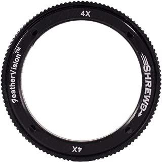Shrewd 4X Lens with Housing Verde Vitri 35mm/42mm Archery Equipment, Black