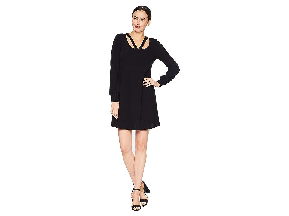 Karen Kane Cut Out Sweater Dress (Black) Women