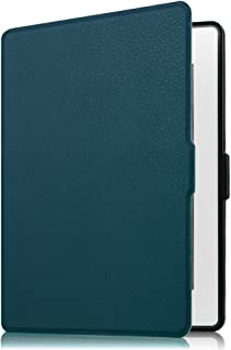 Fintie Nook GlowLight Plus SlimShell Case - The Thinnest and Lightest Leather Cover for Barnes & Noble Nook GlowLight Plus eReader 2015 Release Model# BNRV510 (NOT Fit Nook GlowLight 3 2017), Navy